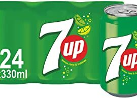 7UP - Lemon & Lime Flavoured Fizzy Drink - 24 x 330 ml cans