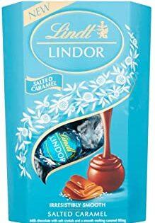 Lindt Lindor Milk Chocolate Salted Caramel Chocolate Gift Box, 200 g