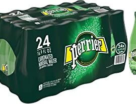 Perrier Sparkling Natural Mineral Water, 24 x 500ml