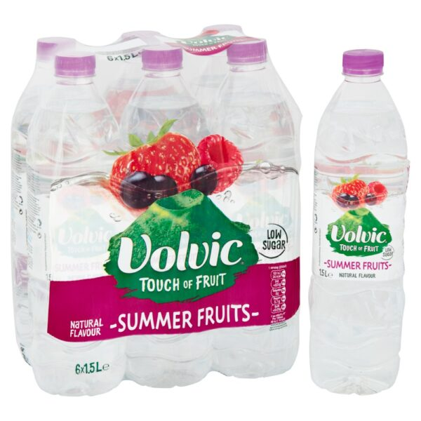 Volvic Touch of Fruit Low Sugar Summer Fruits Natural Flavoured Water